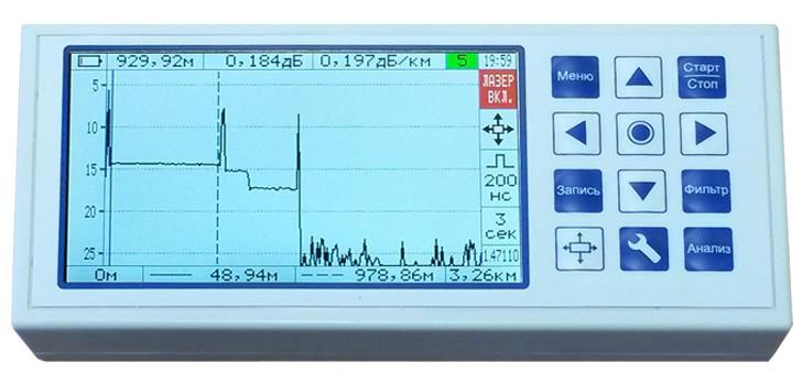 Какая дешевая модель оптического рефлектометра может замерять расстояние до обрыва?